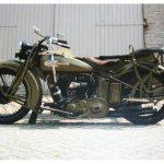 Harley Davidson D750cc met zijspan uit 1929. Tweedehands motoren