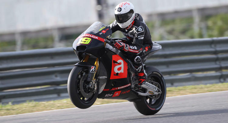 MotoGP testdag 1 sepang Bautista Aprilia