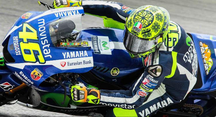 MotoGP testdag 1 sepang Rossi Yamaha