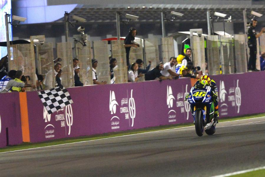 MotoGP van Qatar finish